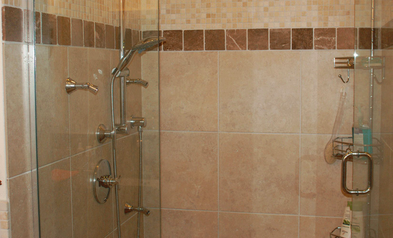 Charmant Custom Bathroom And Shower Remodeling Info. Recent Project In Boystown NE    Shower Head And Glass Door Tile